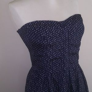 🌞Gap Fitted Bodice Strapless Dress Sz Medium